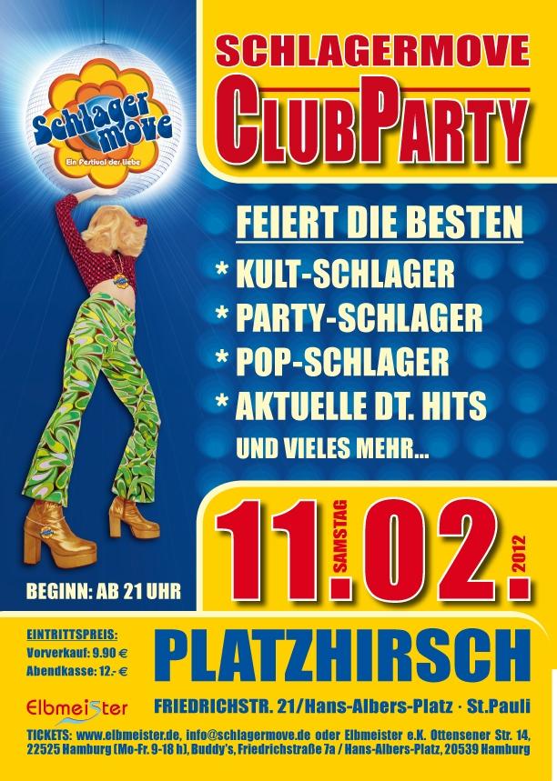Karten für die Schlagermove-ClubParty am 11.02.2012 sichern!